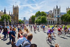 Prudential RideLondon 2015 London Bike Ride (paulinuk99999 (lback to photography at last!)) Tags: road charity house london westminster abbey bike square landscape cyclists ride parliament crowds overhead prudential cheering 2015 ridelondon paulinuk99999