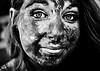 Sale histoire (Christine Lebrasseur) Tags: street portrait people blackandwhite woman france colour art texture smile canon paint bordeaux spot teenager fr gironde léane allrightsreservedchristinelebrasseur dreamcolorstimebordeaux