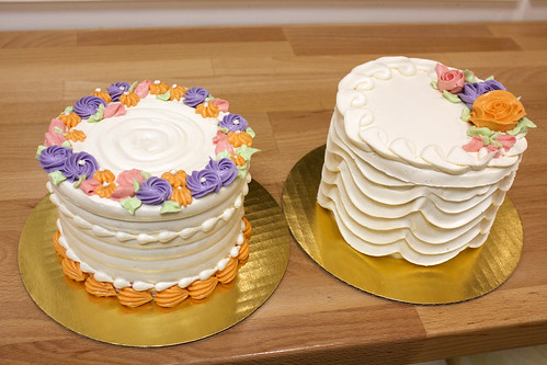 Tiny Flower & Draped Piping Gourmet Cakes