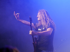 Chewy and the mighty guitarpick - VoiVod live in Budapest (un2112) Tags: voivod metal rock music musician musicians people humans canadian heavymetal progressiverock gig concert live budapest barbanegra november gx80 guitarplayer guitar