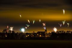 Happy New Year 2017, Algermissen (Burr_Brown) Tags: frohes neues jahr silvesternacht mitternacht feuerwerk nacht silvester kirche algermissen niedersachen langzeit belichtung nikon d750 tamron f28
