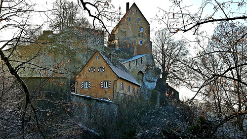 Castle of Pottenstein in Bavaria, Germany. January 1, 2017