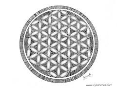 FLOWER OF LIFE -  The Sacred Geometry (ivysanchez14) Tags: art mandala floweroflife artwork handmade inkart inspiration