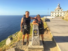 Met these two frenchie's that had walked the entire Camino from France to here, Faro de Fisterra, the end of the Camino!