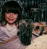 Emily 6 (tobysx70) Tags: polaroid sx70 sonar emulsion manipulation time zero tz instant film emily em los angeles la california ca portrait girl child niece glass cocacola coke food restaurant toby hancock photography