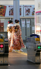 Adult ticket gate (sapphire_rouge) Tags: kimono 振袖 着物 晴着 girl lady