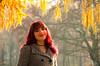 (Kalev Lait photography) Tags: portrait woman estonianwoman smile people autumn autumncolors redhead mist tiergarten choker