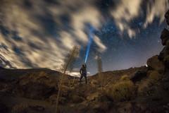 Sky Explorer (martin.matte) Tags: landscape sky nature travel skyscape nightscape night tenerife teneriffa teide milkyway milchstrase nacht lampe hiking islascanarias canaryislands kanaren kanarischeinseln astrophotography