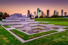 Houston Police Memorial (Adam Kyle Jackson) Tags: houston downtown city cityview cityscape landscape memorial police park travel buildings building architecture skycraper skyline sunset dusk