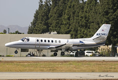 Curly LLC. Cessna 560 Citation Ultra N579BJ (birrlad) Tags: vannuys vny airport airfield executive california usa vip bizjet private passenger jet aircraft aviation airplane airplanes approach arrival arriving finals landing runway curly llc