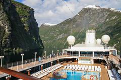 Iceland Trip - Norway (tweedy35) Tags: europe scandinavia norway sunnmøre unesco geirangerfjord geiranger scenic mountains water azamarajourney cruiseship deck canon400d tamron