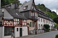 Par les rues, Bacharach, landkreis Mainz-Bingen, Rhénanie-Palatinat, Allemagne.