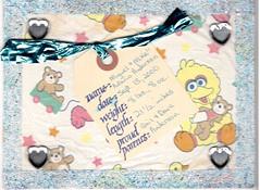 Birth Announcement for My Son (booboo_babies) Tags: baby handmade 2000 son birthday birth rubberstamp collage sesamestreet cute child