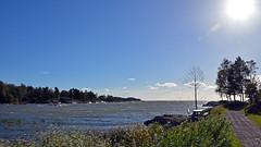 Skoghall in Hammarö near Karlstad a windy day. Sweden (andantheandanthe) Tags: karlstad sweden hammarö vänern stormy windy kuling water vatten sjö sea hav waves skoghall lake