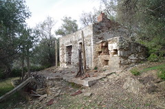 Small villa (agropanos76) Tags: old abandoned cottage villa olive grove stone traditional fireplace stove external yard rural