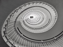 Cyclone (Douguerreotype) Tags: uk gb britain british england london city urban bw blackandwhite mono monochrome helix spiral stairs staircase architecture geometry geometric