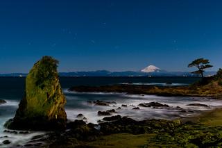 Starry sky on the Akiya coast