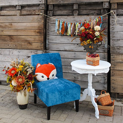 Interior decorating idea. (Tim Kiser) Tags: 2014 20141019 bentontownship bentontownshipeatoncountymichigan bentontownshipmichigan capitalregion countrymill eatoncounty eatoncountymichigan happyharvest img0536 lansingmetropolitanarea michigan october october2014 appleorchard apples autumndecorations autumndisplay autumnflowerarrangements autumninteriordecoration autumntheme autumnthemed autumnthemeddisplay autumnthemedinteriordecoration basketofapples baskets blueandorange bluechair centralmichigan chair cidermill complementarycolors decorations display displayidea falldecorations falldisplay falltheme fallthemed fallthemeddisplay fallthemedinteriordecoration floralarrangements flowerarrangements fox foxpillow gravel gravelstrewn hangingdecoration interiordecorating interiordecoratingidea interiordecoration interiordecorationidea livingroomidea midmichigan oppositecolors orangeandblue orchard pillow southcentralmichigan strewnwithgravel table tableandchair thecountrymill vases vasesofflowers whitetable wood woodenwall charlotte unitedstates