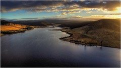Craigbourne Dawn (Trains In Tasmania) Tags: australia tasmania colebrook craigbournedam lake dam water hdr drone aerial phantom3standard dji djiphantom3standard clouds earlylighting sunrise scene scenery tasmaniancountryside tasmanianscenery trainsintasmania stevebromley