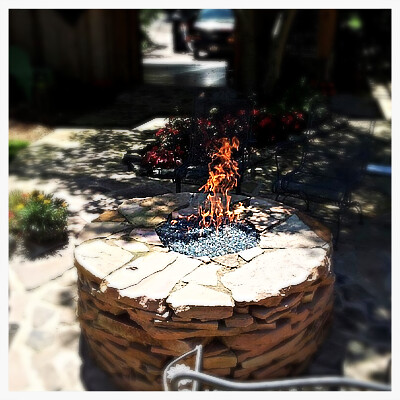 Custom Gas Fire Pit, Chattanooga, Tn.