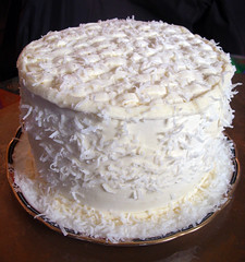 Beth's Coconut Birthday Cake (dogfaceboy) Tags: cake coconut explore birthdaycake explwhore