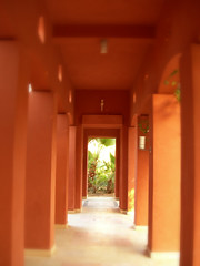 Some pillars in the garden, Sheraton Miramar Resort El Gouna, Hurghada (mnadi) Tags: flowers sunset red summer sky orange holiday blur flower colour garden blurry warm colours outdoor redsea curves perspective egypt sunny resort arabic clear gouna egyptian styles sheraton pillars ethnic spa miramar depth hurghada michaelgraves bedouin primitive  nubian elgouna bougainvilleas
