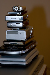 My Stack (archie4oz) Tags: canon powerbook psp ipod k750i walkman sony sonyericsson nintendo ds mp3 powershot nano gameboy digitalelph