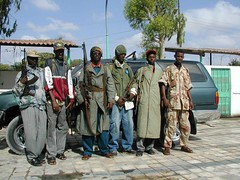 Bodyguards (Sound Monkey) Tags: militia somalia ak47 bodyguards