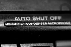 Auto Shut Off (willvaughan) Tags: auto lighting bw macro play buttons sony off tape stop microphone recorder recording condenser fastforward electret