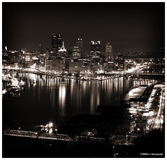 home (pittsburgh in black and white)