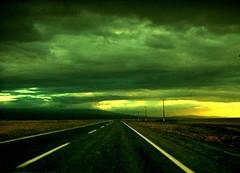 Camino hacia Sn. Pedro (ValetheKid) Tags: chile sky noche colours infinite norte asfalt expresion