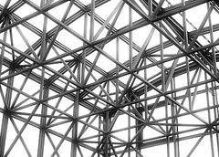 rooftop (dekonstruktor) Tags: city roof urban bw construction geometry minimalistic pozna urbanphotography poznan dekonstruktor