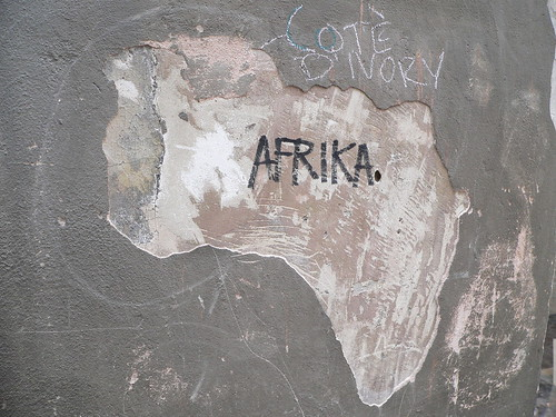 Africa map from Ivory Coast