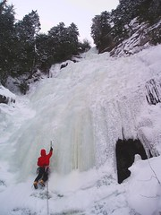 cerberus (Dru!) Tags: cold green ice frozen waterfall gate bc britishcolumbia curtain canyon steven fraser icicles iceclimbing hells cerberus stemalot firstascent harng