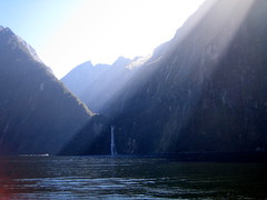 an array of sun-drenched cliff faces (Mister Wind-Up Bird) Tags: newzealand fjord milfordsound fiordlands