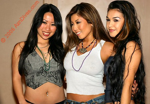 Three Sexy Japanese Model Faline Song, Akira Lane, and Sabrina Jane