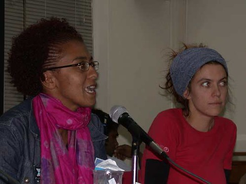 Crystal Orderson (Young Africa Television. Johannesburg) & Marni Cordell (www.smallvoices.org, Melbourne)