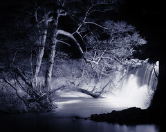 Weir At Night (hdr) (floyduk) Tags: uk england tree night searchthebest britain quality derbyshire tritone derby belper 1on1 wier 123bw photowalkthrough quakity abigfave hdratnight