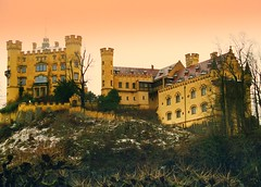 hohenschwangau castle - germany (chillntravel) Tags: travel castle germany deutschland bavaria europe neuschwanstein hohenschwangau beautifulscenery 1000places