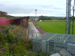 Cliftonhill Stadium, Coatbridge. Terracing (tcbuzz) Tags: scotland football stadium albion cliftonhill rovers coatbridge