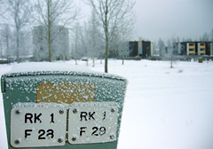 helmikuu1-2006 093b (Fantasyfan.) Tags: winter snow cold sign topv111 tag3 taggedout buildings finland tag2 tag1 gray womenonly machinery raahe kummatti fantasyfanin