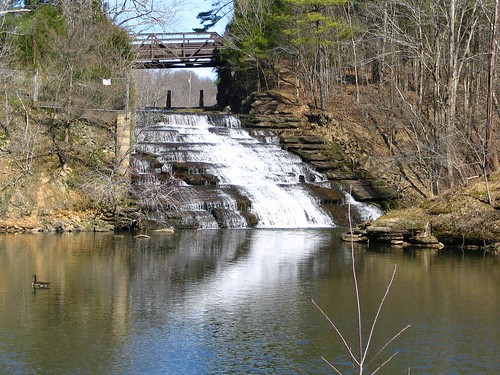 Waterfall at Marrowbone Lake