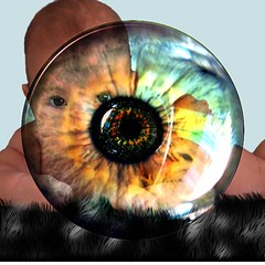 Baby e Eye (Zulpha) Tags: blue portrait bw black color colour eye beautiful face look tag3 mystery taggedout youth digital photoshop fun effects nose kid cool eyes tag2 alone tag1 child looking young ps ear stare flikr zulpha