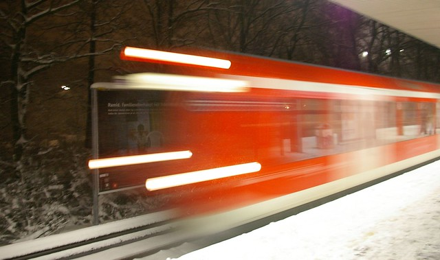 Vorsicht Zug fährt ein