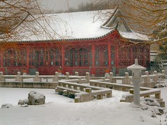 Chinese Garden in Winter (Maharepa) Tags: leica winter snow berlin architecture geotagged top20winter chinese grten chinesischergarten mahrzahn erholungspark geo:lat=52536381 geo:lon=13576323