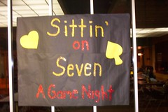 Our poster, hard work pays off (munecastace) Tags: game night seven sittin