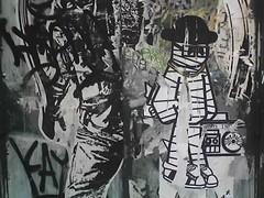 old skool mummy (arievergreen) Tags: nyc streetart eastvillage newyork pasteup graffiti lowereastside oldschool hiphop boombox mummy oldskool