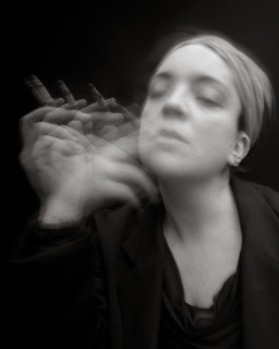 self portrait smoking