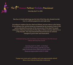 Invitation to the 9th Annual Bacchanal (Wine Team) Tags: party wine invitation toga bacchanal