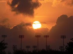 Texas Sunset (J-a-x) Tags: clouds university texas rice stadium houston riceuniversity